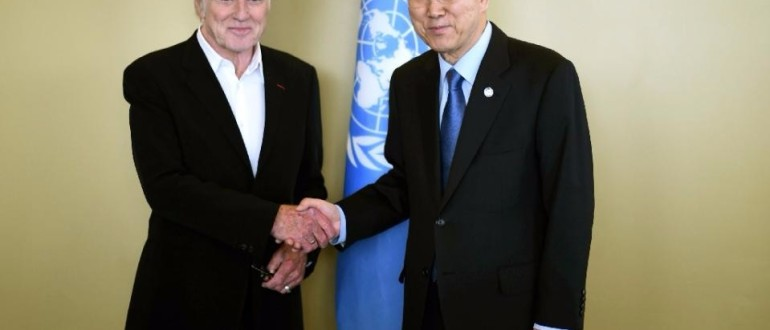 Robert Redford at the UN - credit Timothy A Clay AFP